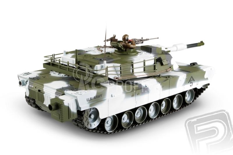 RC tank M1A1 Abrams 1:16 - zimní verze 2,4GHz