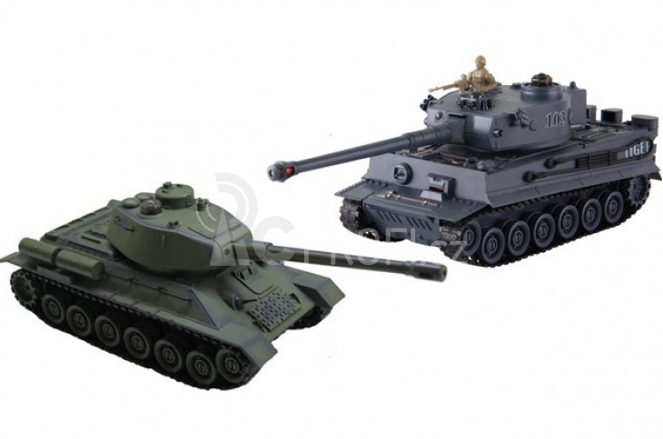 BAZAR- RC tanky Tiger I vs. T34/85