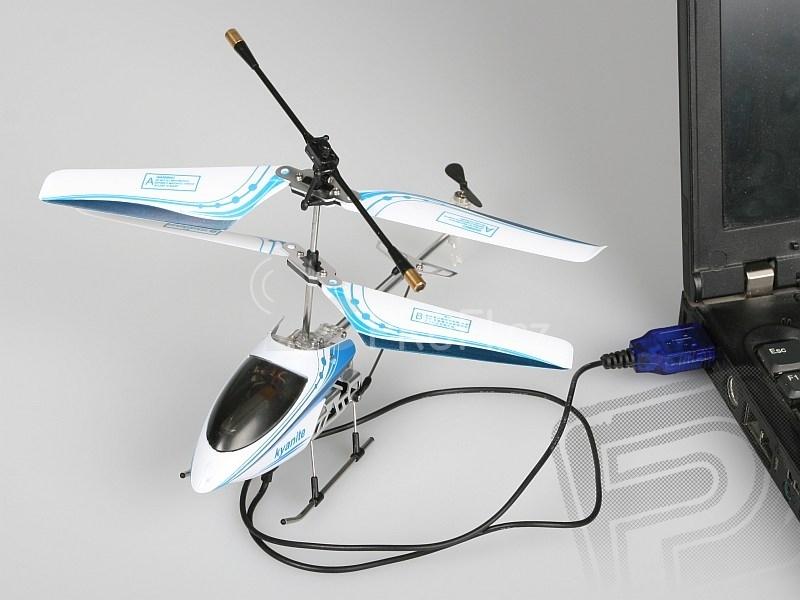 RC vrtulník Nanocopter, fialový