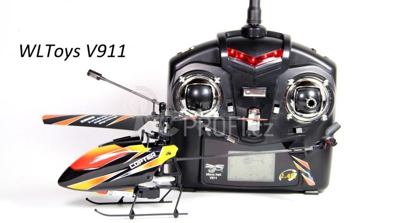 RC vrtulník WL Toys V911, černá