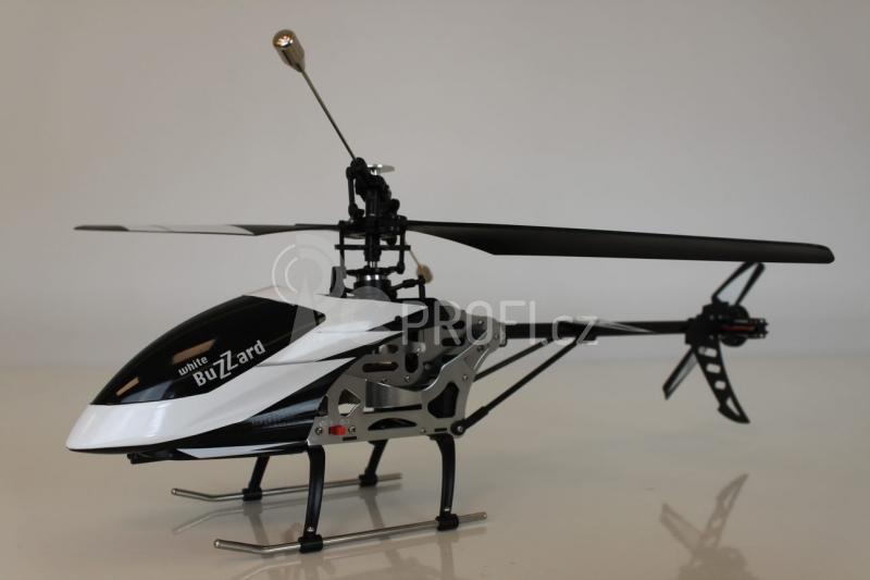 RC vrtulník Buzzard, bíločerná