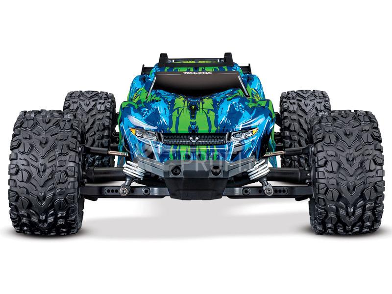 Traxxas Rustler 1:10 VXL 4WD TQi RTR bez aku, zelená